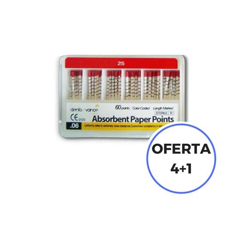 OFERTA 4+1 PUNTAS DE PAPEL DENTOAVANCE 06 TAPER CODIGO COLOR 25 CON MARCAS DE PROFUNDIDAD