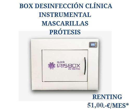QUICK IRISBOX DESINFECCIÓN MATERIALES VARIOS CLÍNICA DENTAL POR LUZ ULTRAVIOLETA UV-C (LED)