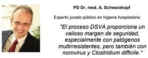 Testimonio del Dr. A. Schwarzkopf sobre la eficacia de la desinfeccón con Diosol Generator