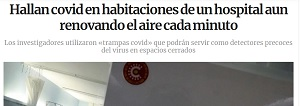 HAYAN COVID EN HABITACIÓN DE HOSPITAL