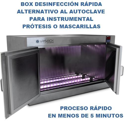 IRISBOX ARMARIO DESINFECCIÓN POR LUZ ULTRAVIOLETA UV-C (LED)