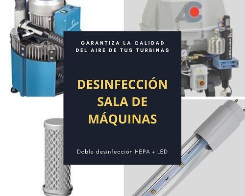 IRIS TUBE DESINFECCIÓN SALA DE MÁQUINAS CLÍNICA DENTAL POR LUZ ULTRAVIOLETA UV-C (LED)