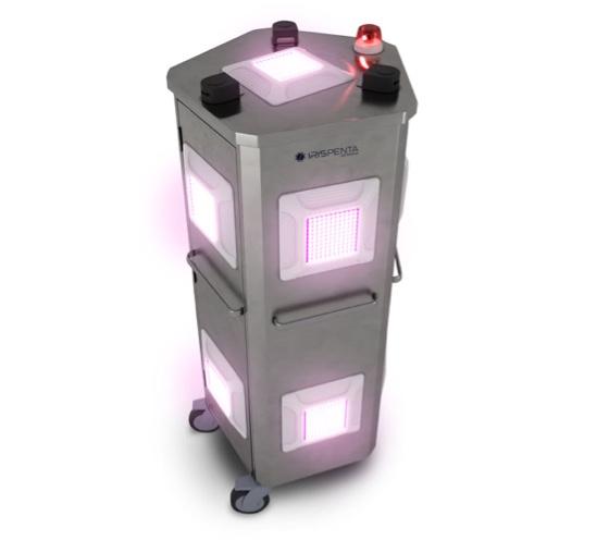Robot de desinfección por luz ultravioleta Iris Penta