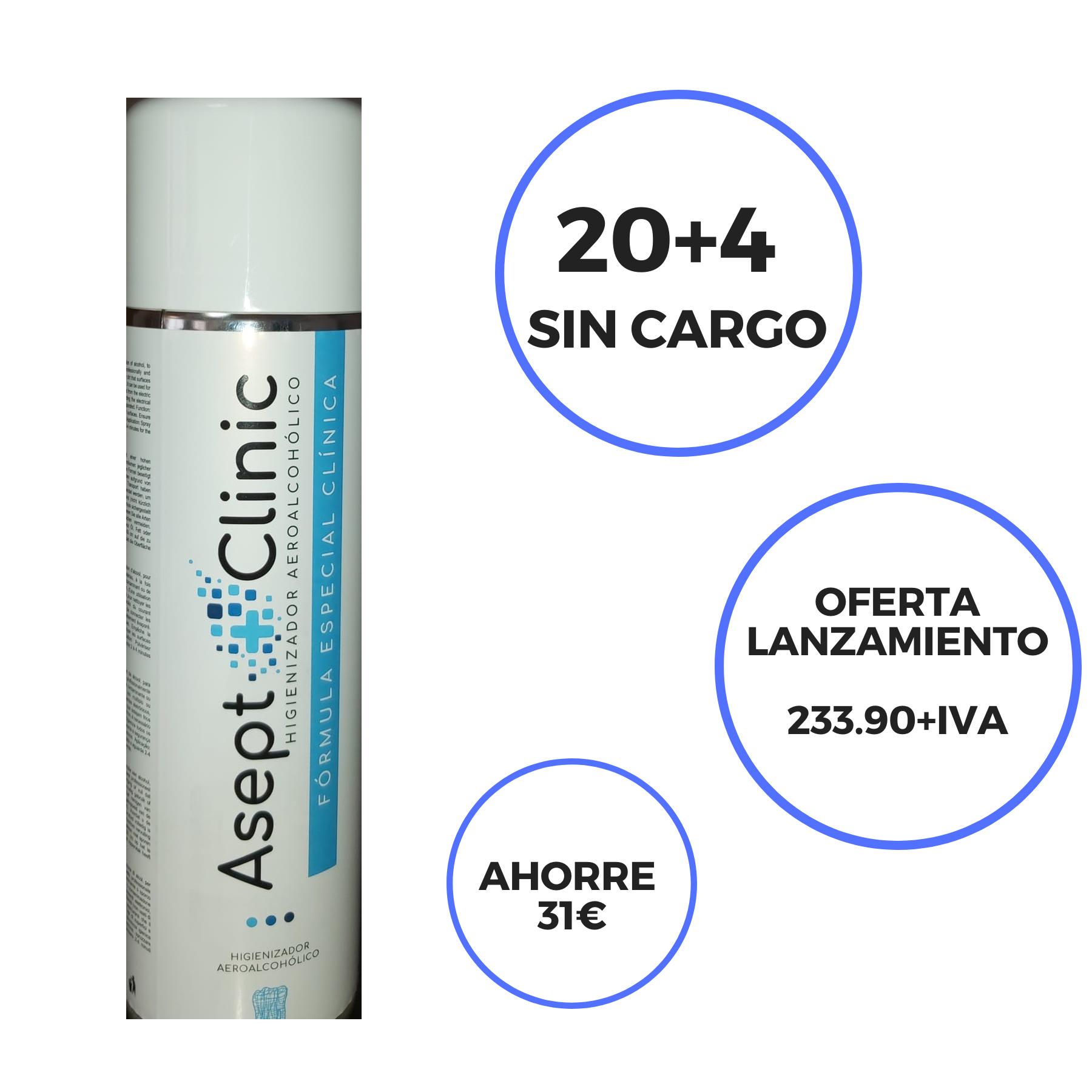 ASEPTCLINIC Spray higienizador superficies para clínicas aereoalcohólico, el paciente percibe el esfuerzo de la clínica por preservar su seguridad