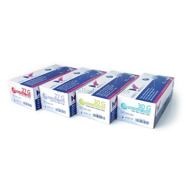 AGUJAS MEDICALINE 30G X-CORTA 0,3x12mm 100uds.