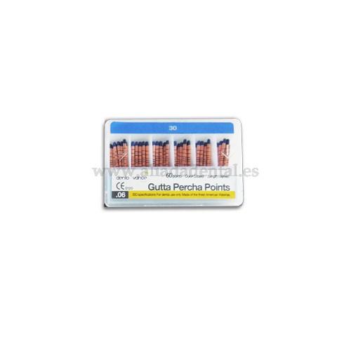 GUTTA PERCHA  04 TAPER CODIGO COLOR 30 CON MARCAS PROFUNDIDAD (60P EN 6)