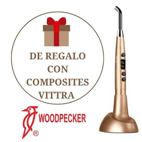 🎁 Lámpara de fotocurado Woodpecker LED.H ORTHO de regalo con los composites Vittra de FGM