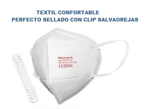 Mascarillas Vcare con clip salvaorejas, con tela muy confortable y un buen sellado