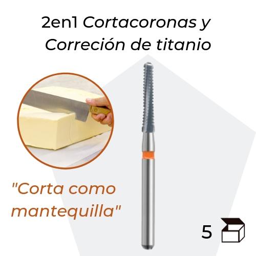 FRESA CARBURO FG CORTACORONAS Y CORRECCION INTRAORAL DEL TITANIO DIAMETRO 016