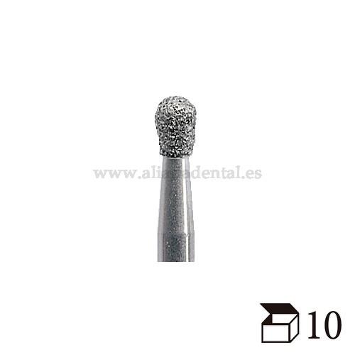 EDENTA FRESA DIAMANTE TURBINA 830 PERA GRANO GRUESO DIAMETRO  10