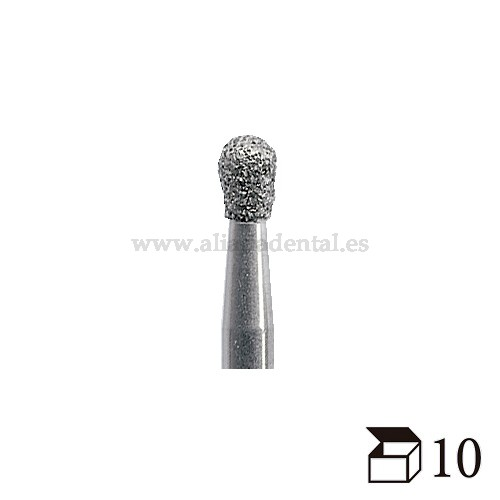 EDENTA FRESA DIAMANTE TURBINA 830 PERA GRANO EXTRAFINO DIAMETRO  12