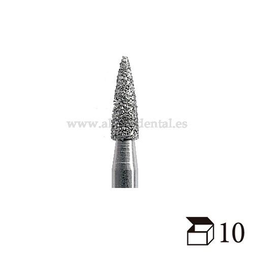 EDENTA FRESA DIAMANTE TURBINA 860 LLAMA GRANO EXTRAFINO DIAMETRO  10
