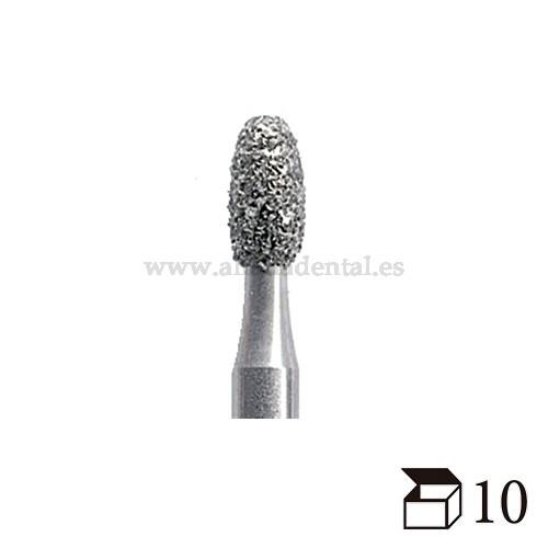 EDENTA FRESA DIAMANTE TURBINA 379 OVOIDE GRANO GRUESO DIAMETRO  18