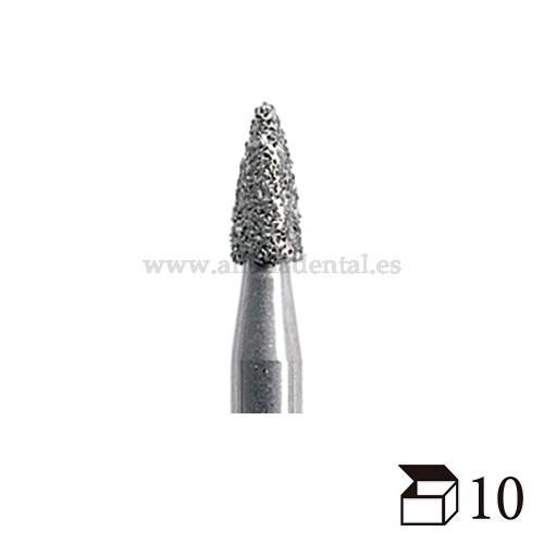 EDENTA FRESA DIAMANTE TURBINA 390 GRANADA GRANO FINO DIAMETRO  16