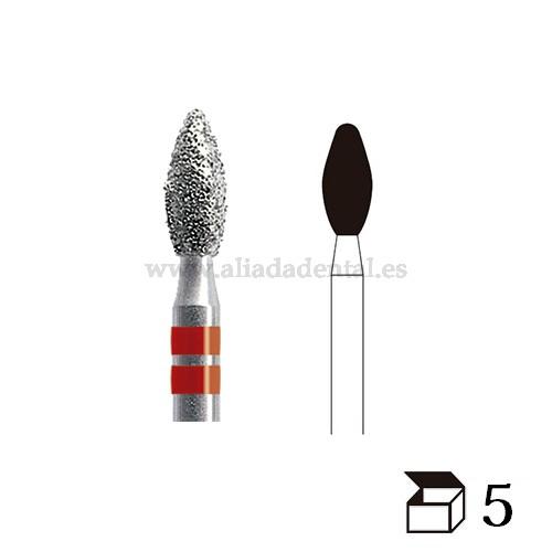 EDENTA FRESA K-DIAMONDS TURBINA K369 PELOTA DE RUGBY GRANO EXTRAFINO DIAMETRO 25