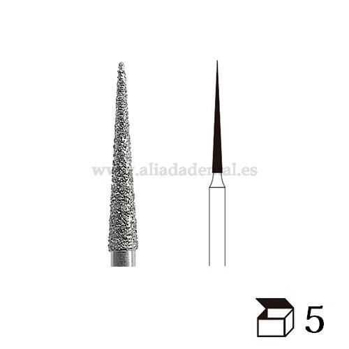 EDENTA FRESA K-DIAMONDS TURBINA K859L CONO PUNTIAGUDO LARGO GRANO EXTRAFINO DIAMETRO 10