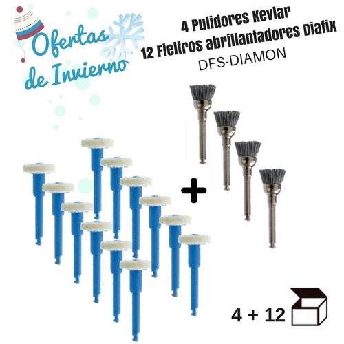 4 PULIDORES KEVLAR + REGALO 12 FIELTROS DIAMANTADOS DIAFIX