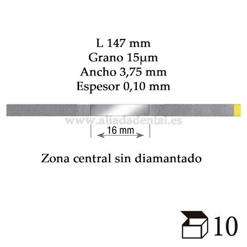 EDENTA TIRA PULIDO PROXIMAL DIAMANTADO EXTRA FINO 147X3,75X0,08