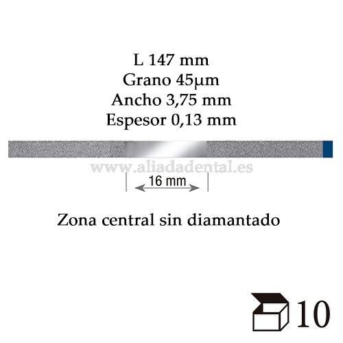 EDENTA TIRA PULIDO PROXIMAL DIAMANTADO ESTANDAR MEDIO 147X3,75X0,13