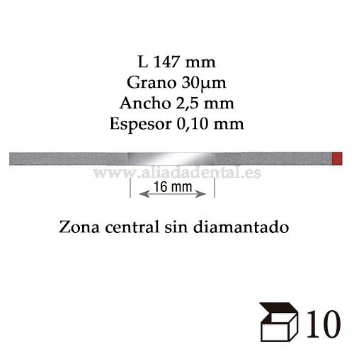 EDENTA TIRA PULIDO PROXIMAL DIAMANTADO FINO 147X2,5X0,10