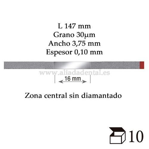 EDENTA TIRA PULIDO PROXIMAL DIAMANTADO FINO 147X3,75X0,10