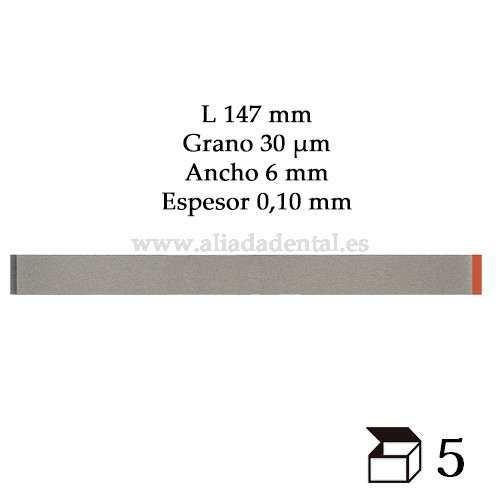 DENTA TIRA PULIDO PROXIMAL ANCHA DIAMANTADO FINO 147X6X0,10