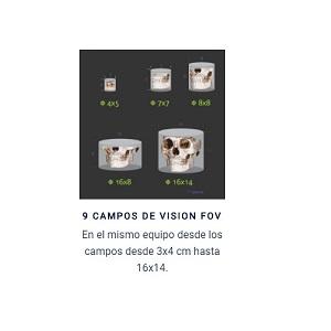 Amplitud de campos de visión con la posibilidad de realizar Teles con el TAC gracias al campo 16x14