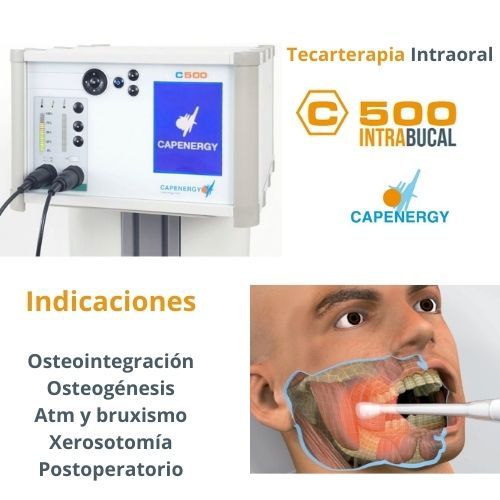 DISPOSITIVO DE TERCARTERAPIA ORAL Y MAXILOFACIAL C500 INTRAORAL CAPENERGY