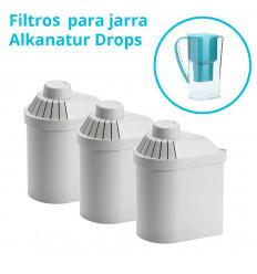 Pack 3 filtros para Jarra Alkanatur Drops (1200 litros)