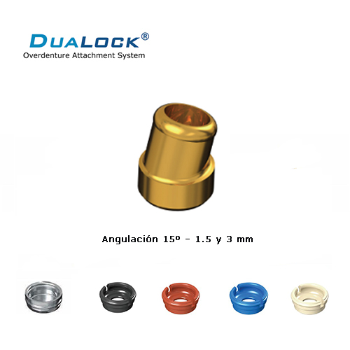 DUALOCK® ATACHE SIMILAR A LOCATOR® COMPATIBLE CON BRANEMARK HEX. EXTERNO PILAR ANGULADO 4.1 ALTO 3 MM.