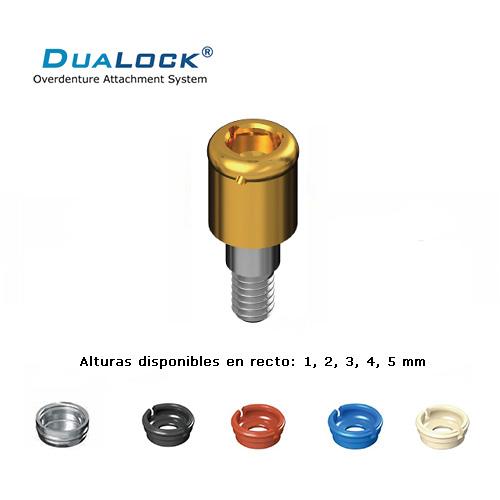 DUALOCK® ATACHE SIMILAR A LOCATOR® COMPATIBLE CON STRAUMANN PILAR RECTO 4.8 ALTO 2 MM.