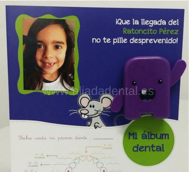 ALBUM DENTAL CON COFRE PORTADIENTES, MAPA DENTAL Y SOPORTE TIPO PEANA